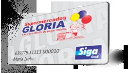 Cartão fidelidade Supermercados Gloria